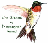 The Wisdom of Hummingbird Award