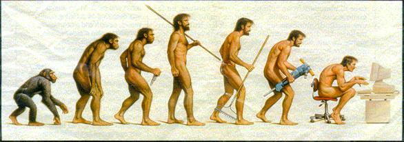 'The *EVOLUTION* of Man'???